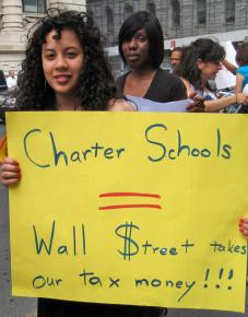 Teachers, parents and activists worked together on a citywide day of action against Bloomberg's cuts
