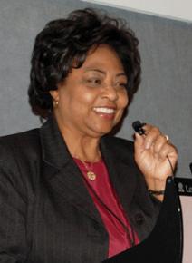 Shirley Sherrod speaking in March as USDA official in Georgia