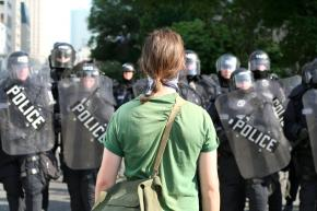 Protesters faced down police in Toronto during protests against the G20 summit