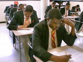 Urban College Prep students during testing