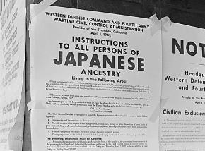 Orders for Japanese-Americans to report for internment during the Second World War