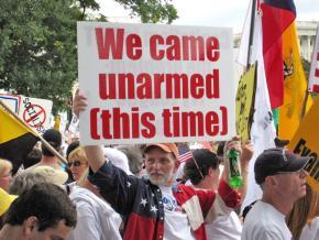 A Tea Party rally in Washington, D.C., last spring