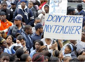 Newark high school students rally against sweeping cuts to public education