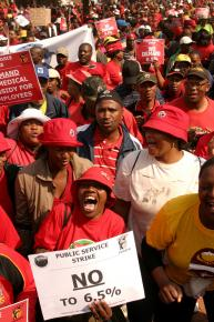 More than 1 million workers participated in the strike of public-sector workers in South Africa