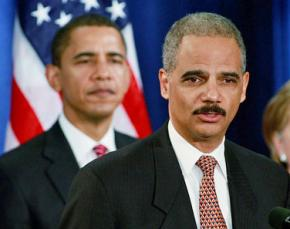 Attorney General Eric Holder with President Barack Obama