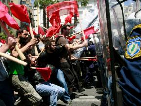 Greek protesters clash with police in Athens
