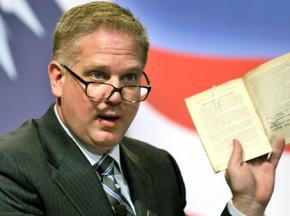Glenn Beck performing on his Fox television show
