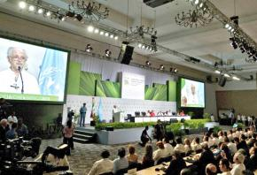 Attendees gathered at the UN-sponsored climate change conference in Cancún