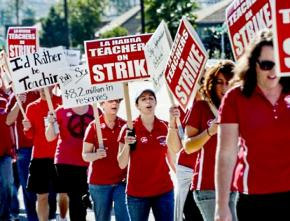 Teachers in La Habra stood firm during their strike and the lockout that followed