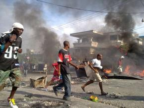 Protests erupted in Haiti in reaction to preliminary results from the November election