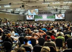 Attendees at the final plenary session of the COP16 climate talks in Cancún