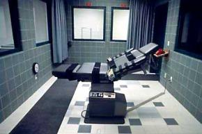 The lethal injection chamber in Terre Haute, Indiana