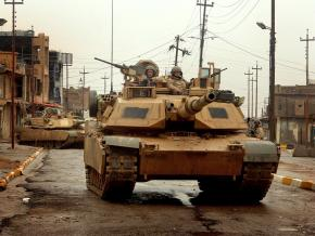 An M1 Abrams tank, worth more than $6 million each, deployed in the occupation of Iraq