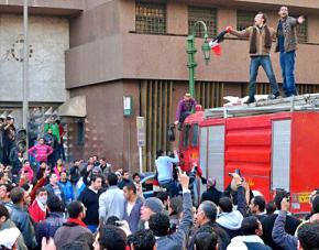 Crowds of demonstrators jammed the streets of Cairo