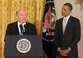 President Obama with his new Chief of Staff William Daley
