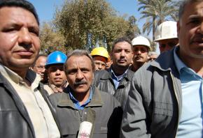 Workers at the Tora Cement factory held a sit-in over wages and working conditions in 2009