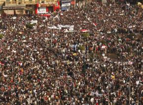 Cairo's Tahrir Square is packed with protesters demanding the downfall of a dictator