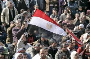 Masses of protesters gather in Cairo the day after Mubarak's pledge to stay in power until the September elections