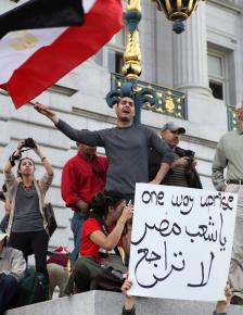 A San Francisco demonstration in solidarity with the Egyptian revolution