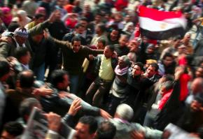 Millions dance in the streets to celebrate the overthrow of Hosni Mubarak