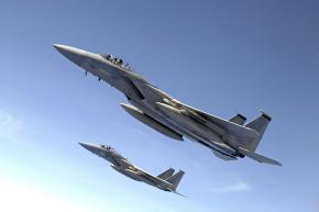 F-15 Eagle jets from the U.S. Air Force
