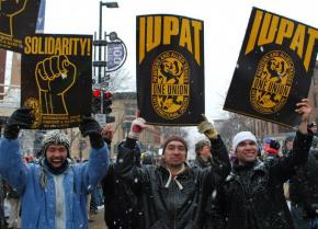 Unions across the state of Wisconsin and beyond turn out for a huge rally at the state Capitol