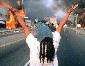 Los Angeles erupted in protest and rioting when the cops who beat Rodney King were found not guilty