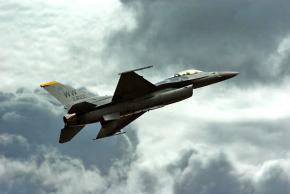 A U.S. F-16 fighter jet