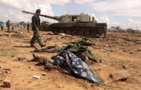 Casualties of the U.S.-led attack on Libya found near al-Wayfiyah, west of Benghazi