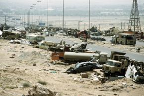 """Wreckage left behind on """"highway of death"""" in Iraq"""