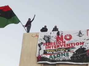 Libyan protesters insist they don't want military intervention by the West