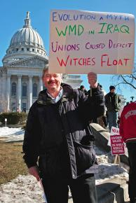 Large numbers of Wisconsin residents have stood up to the attacks on public-sector workers