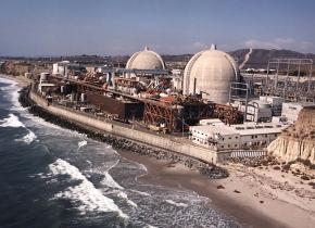 The San Onofre nuclear generating plant sits on the Pacific Ocean coast between Los Angeles and San Diego
