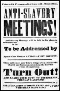 A flyer for an abolitionist meeting