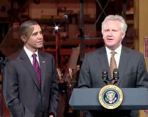 General Electric CEO Jeffrey Immelt with President Obama