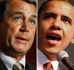 House Speaker John Boehner and President Barack Obama