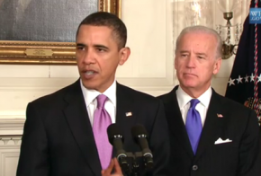 Barack Obama with Vice President Joe Biden