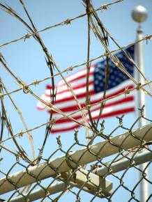 The fence at the U.S. prison camp at Guantánamo Bay