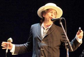 Bob Dylan performing in 2010