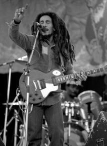 Bob Marley performing in Dublin in 1980