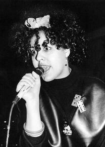 Poly Styrene, lead singer of X-Ray Spex