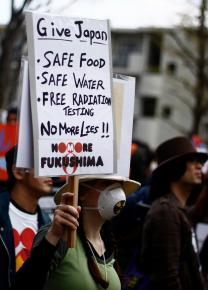 Anti-nuclear protesters march in Tokyo following the Fukushima plant disaster