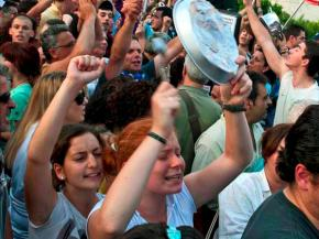 Protesters continue their struggle against austerity in Athens' Syntagma Square