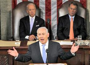 Israeli Prime Minister Benjamin Netanyahu speaks to a joint session of Congress