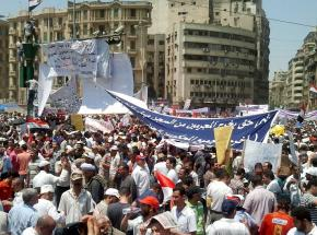 Cairo's Tahrir Square is filled with protesters once again in July