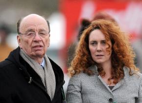 Rupert Murdoch with News International chief executive Rebekah Brooks