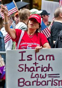 Right-wing islamaphobes on the march in New York CitY