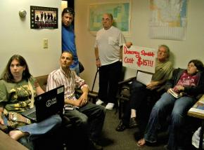 Paul Ryan's constituents wait in his Kenosha, Wis., office to meet with the congressman