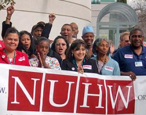 Members of the National Union of Healthcare Workers in Oakland