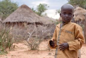 A child in a small Pokot village in Northern Kenya
